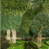 Iberischer Olivenbaum - Original Aquarellmalerei, gerahmtes Unikat Bild 5