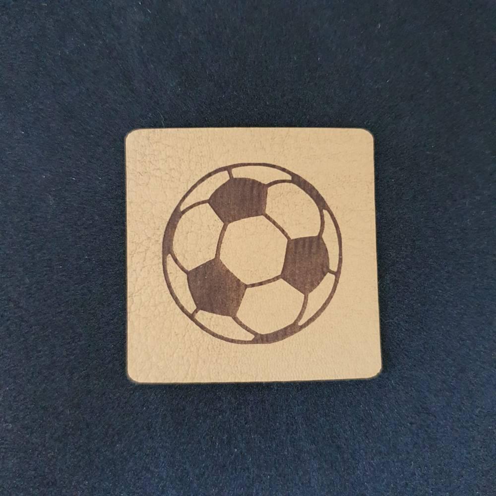 Kunstlederlabel Fußball Bild 1