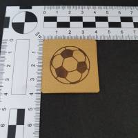 Kunstlederlabel Fußball Bild 2