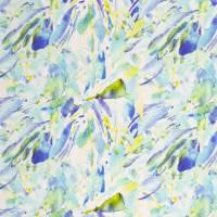 French Terry Wasserfarben blau grün, Swafing Angelina, Stoff Sweat gemustert, Damenstoff Meterware Bild 2