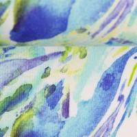 French Terry Wasserfarben blau grün, Swafing Angelina, Stoff Sweat gemustert, Damenstoff Meterware Bild 3