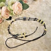 Lange Kette / Endloskette mit Hämatit Magnetperlen und passenden Ohrringen Bild 5