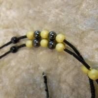 Lange Kette / Endloskette mit Hämatit Magnetperlen und passenden Ohrringen Bild 6