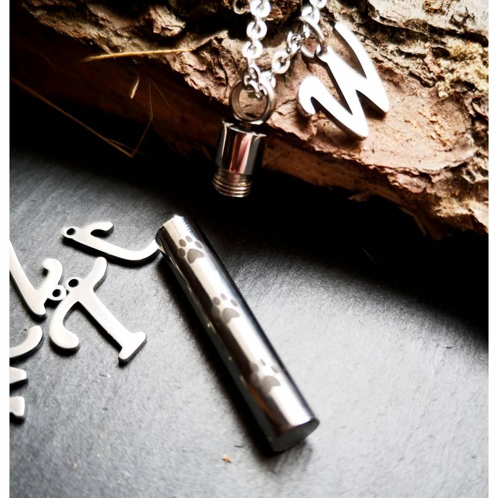 Personalisierte Kette mit Wunschbuchstaben, Halskette, Edelstahl, Edelstahlkette, Memorys Bild 1