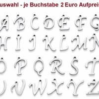 Personalisierte Kette mit Wunschbuchstaben, Halskette, Edelstahl, Edelstahlkette, Memorys Bild 4