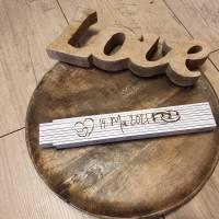 Meterstab/Zollstock mit persönlicher wunsch Gravur individuell personalisierbar Laser Engraving, Hochzeit Bild 1