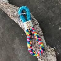 Schlüsselanhänger aus Segelseil mit silberfarbenem Schlüsselring Bild 9