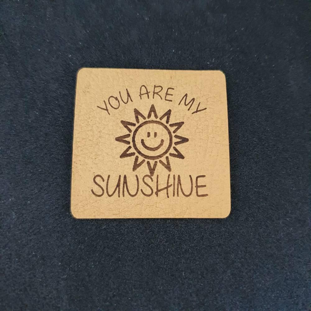 "Kunstlederlabel ""You are my sunshine"" Bild 1"