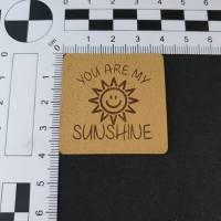 "Kunstlederlabel ""You are my sunshine"" Bild 2"