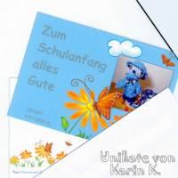 Rechenkette mit Holz- und Kunststoff- Perlen Gelb Orange Rehbraun Rosa Motivperle Glückwunschkarte und Geschenktasche Bild 9