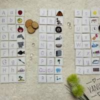 ABC Alphabet Buchstaben Memory ITH Stickdatei 10x10 Bild 1