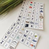 ABC Alphabet Buchstaben Memory ITH Stickdatei 10x10 Bild 7
