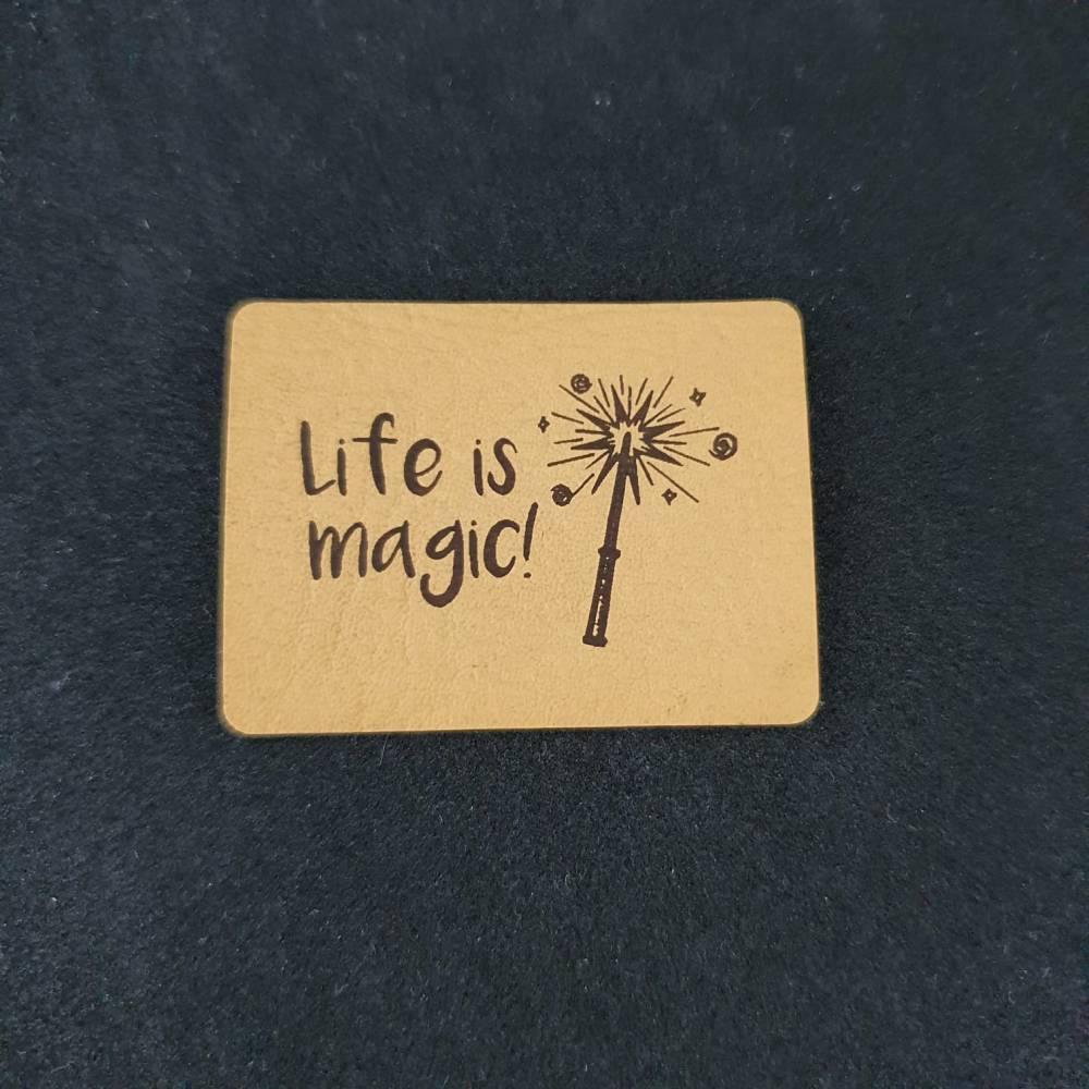 """Kunstlederlabel """"life is magic"""" Bild 1"""