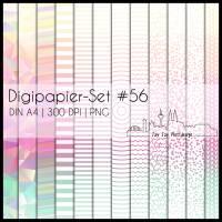 Digipapier Set #56 (gelb, orange, pink, mintgrün) abstrakte & geometrische Formen  zum ausdrucken, plotten & mehr Bild 1