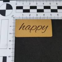 """Kunstlederlabel """"happy"""" Bild 2"""