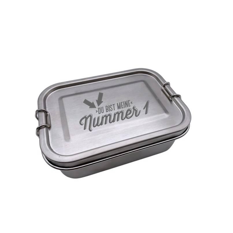 Brotdose Brotbox Lunchbox Blechdose Name Einschulung Bambus Deckel Kind Taufe Weihnachten personalisiert Geschenk  Bild 1