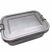 Brotdose Brotbox Lunchbox Blechdose Name Einschulung Bambus Deckel Kind Taufe Weihnachten personalisiert Geschenk  Bild 2