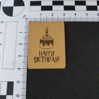 """Kunstlederlabel """"happy birthday"""" Bild 2"""