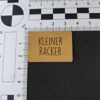 """Kunstlederlabel """"Kleiner Racker"""" Bild 2"""