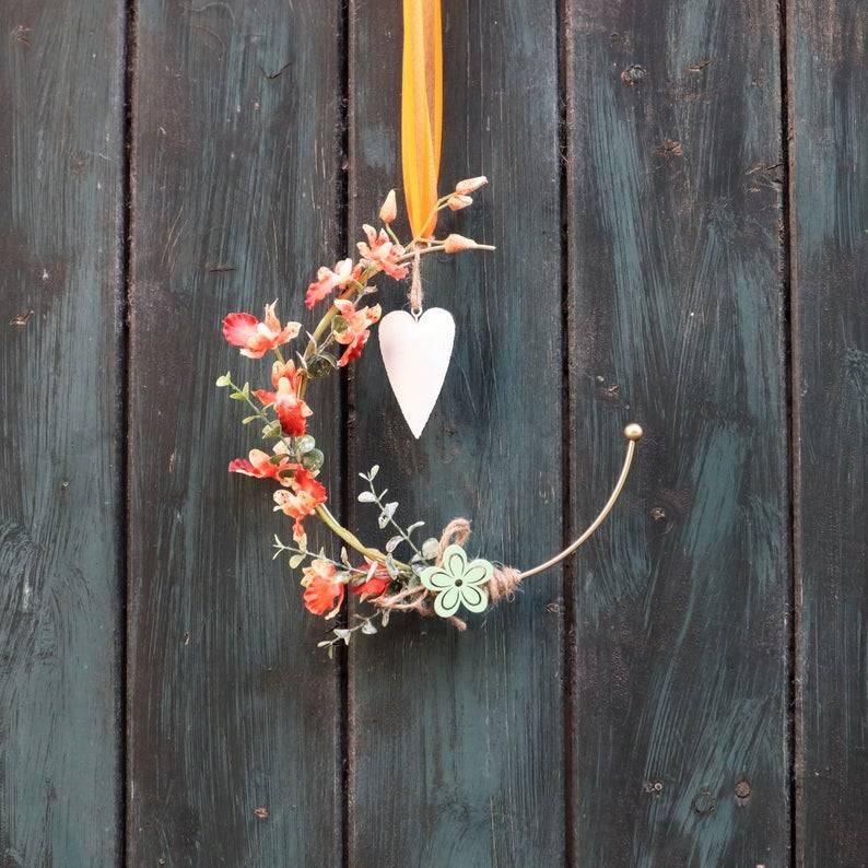 Türkranz, Flower Loop, Hoop, Wandkranz, mit Orchidee Bild 1