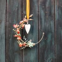 Türkranz, Flower Loop, Hoop, Wandkranz, mit Orchidee Bild 2