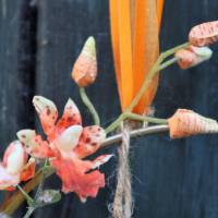Türkranz, Flower Loop, Hoop, Wandkranz, mit Orchidee Bild 3