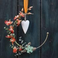 Türkranz, Flower Loop, Hoop, Wandkranz, mit Orchidee Bild 4