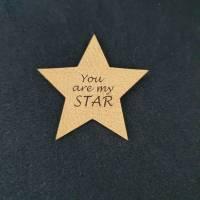 "Kunstlederlabel ""You are my Star"" Bild 1"