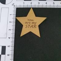 "Kunstlederlabel ""You are my Star"" Bild 2"