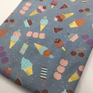 Jersey Stoffpaket ICECREAM, dusty blue / 3x0,5 m Jersey & Bündchen Bild 3