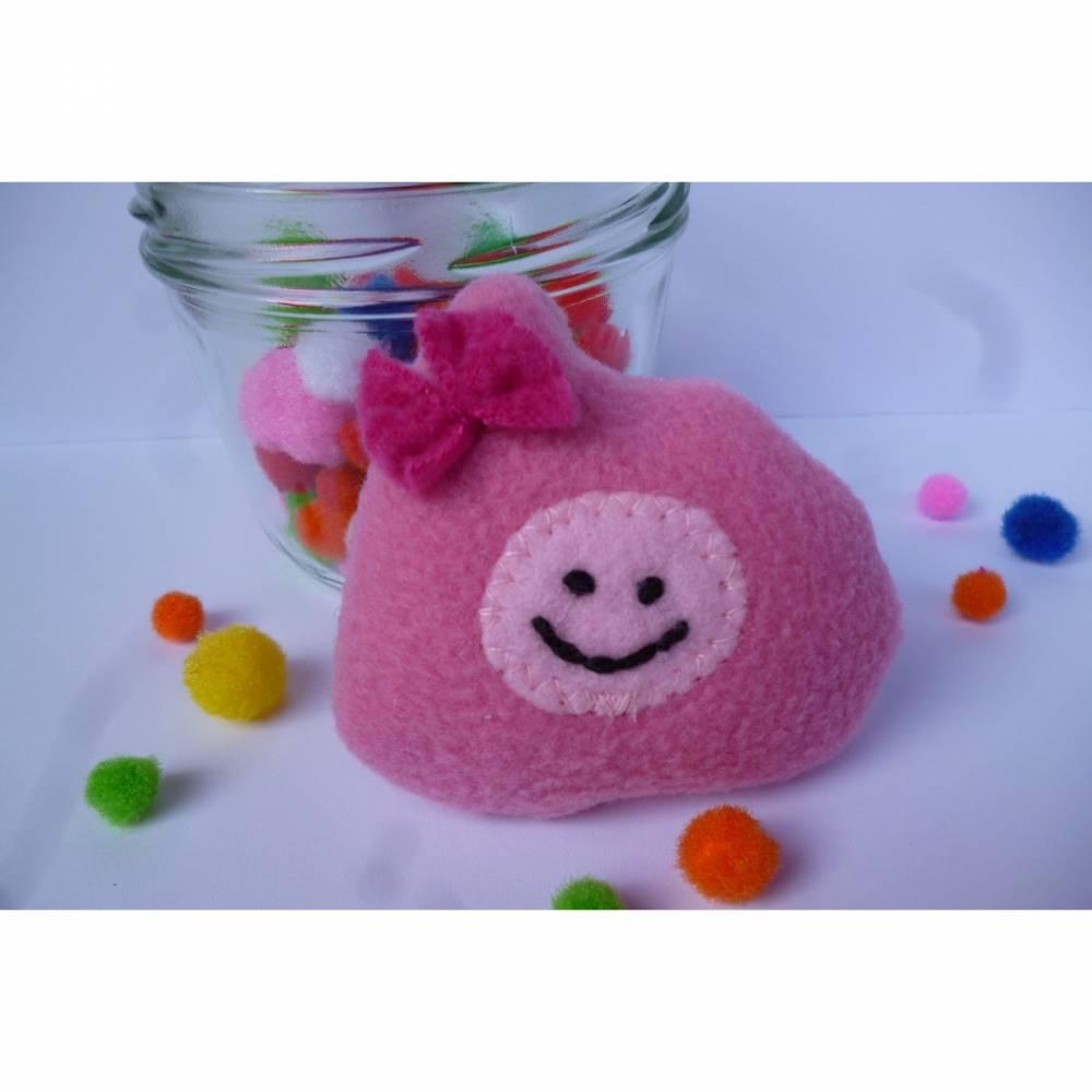 Taschenkumpel, Glücksbringer, Mutmacher, Einschulung, Kindergarten, Schule, Taschenfreund, rosa Bild 1
