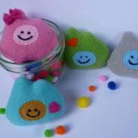 Taschenkumpel, Glücksbringer, Mutmacher, Einschulung, Kindergarten, Schule, Taschenfreund, rosa Bild 2