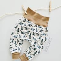 Baby-Pumphose Jersey Waschbären Bündchen Beige Bild 1