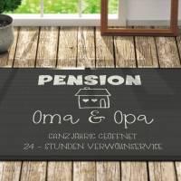 Fussmatte *** Pension *** Oma & Opa *** personalisiert *** Geschenk *** Fußmatte Bild 1
