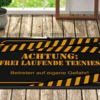 Fussmatte *** freilaufende Teenies *** Teenager *** personalisiert *** Geschenk *** Fußmatte Bild 1