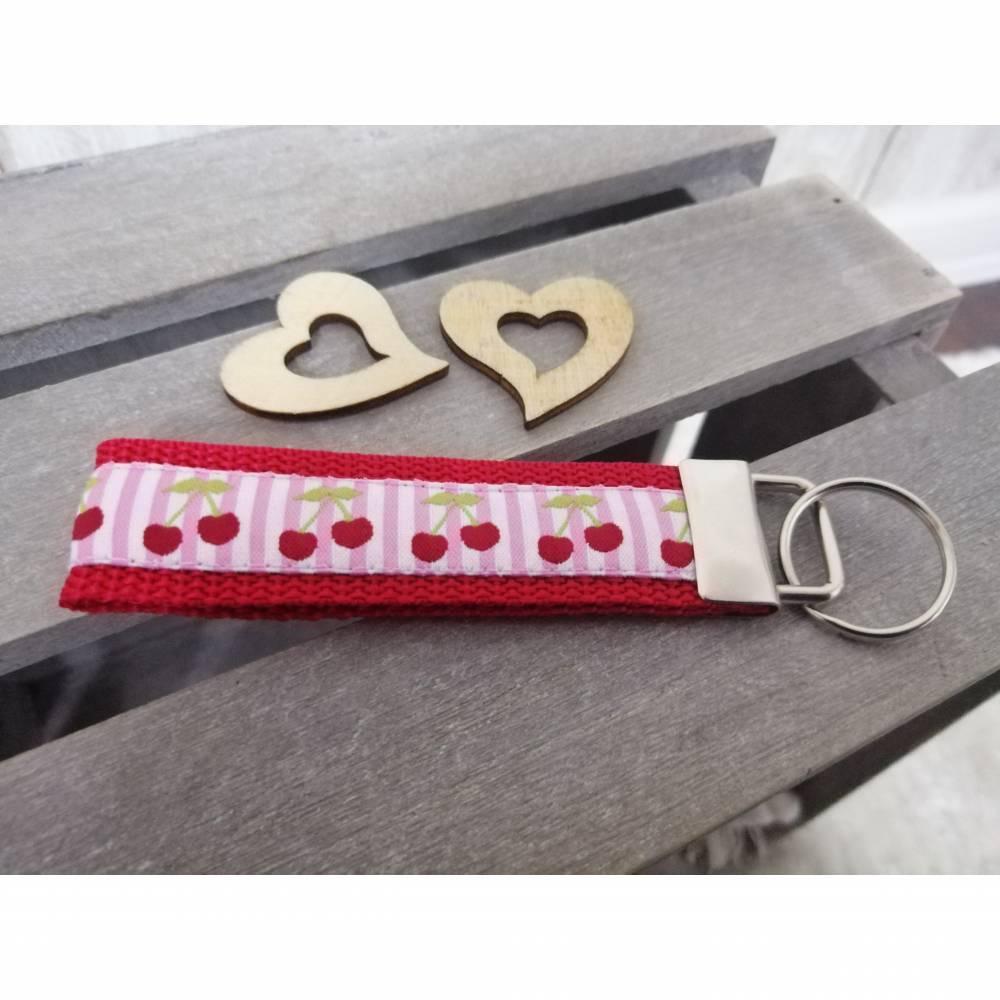 Schlüsselanhänger aus Gurtband Rot Bild 1