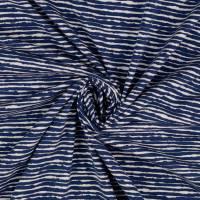 Baumwolljersey schmale Streifen blau Oeko-Tex Standard 100(1m/13,-€) Bild 1