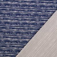 Baumwolljersey schmale Streifen blau Oeko-Tex Standard 100(1m/13,-€) Bild 2