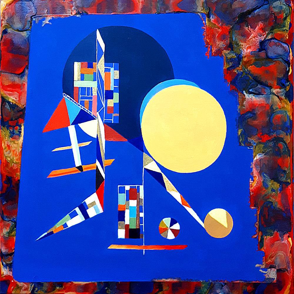 Sichtweisen - Original Ölmalerei + Malerei mit heißem Wachs (Encaustic) Bild 1