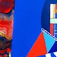 Sichtweisen - Original Ölmalerei + Malerei mit heißem Wachs (Encaustic) Bild 2