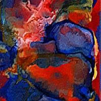 Sichtweisen - Original Ölmalerei + Malerei mit heißem Wachs (Encaustic) Bild 4