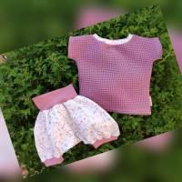 BabySet Mädchen Gr.74 Shirt aus Waffelpique & kurze Hose Sommerset Gr.74 Baby-SommerShirt & kurze  Hose Gr.74 Bild 1
