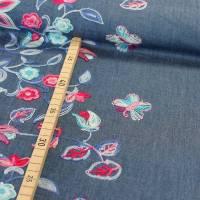 Jeans mit bestickter Bordüre Denim Baumwolle Jeansstoff Bild 1