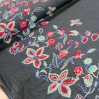 Jeans mit bestickter Bordüre Denim Baumwolle Jeansstoff Bild 2