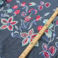 Jeans mit bestickter Bordüre Denim Baumwolle Jeansstoff Bild 3