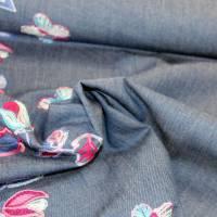 Jeans mit bestickter Bordüre Denim Baumwolle Jeansstoff Bild 5