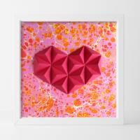 Bubbly heart // Origami-Herz Objektrahmen Bild 1