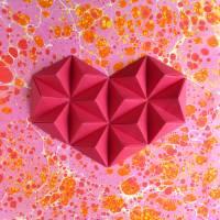 Bubbly heart // Origami-Herz Objektrahmen Bild 3