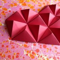 Bubbly heart // Origami-Herz Objektrahmen Bild 4