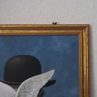 René Frogritte, Magritte, Selbstportrait, Froschkönig, Froschbild, Originalbild, Acrylmalerei, Unikat Bild 5